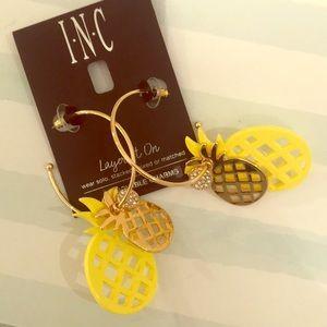Removable charms hoop earrings